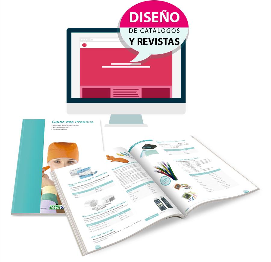 Diseño profesional de catálogos de productos y revistas en Valencia