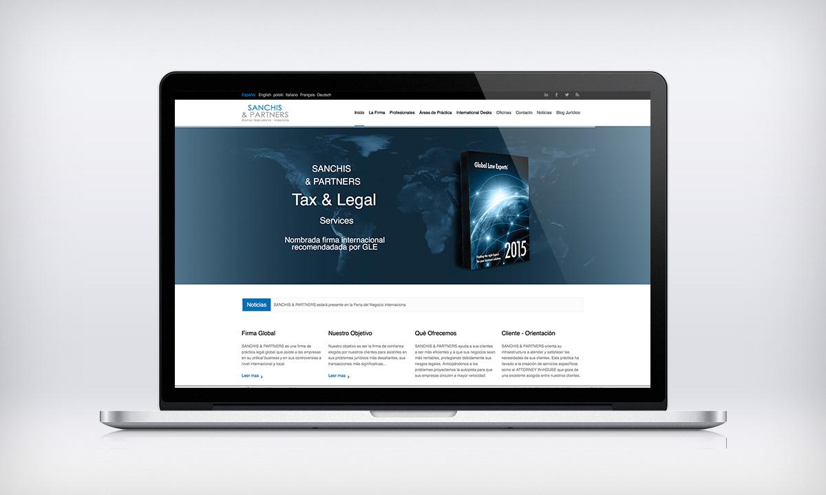 Diseño de pagina Web corporativa para un bufete de abogados en Valencia