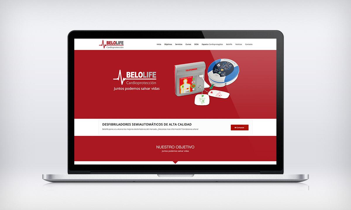 Diseño de página Web corporativa para una empresa especializada en la venta y la instalación de desfibriladores en Valencia