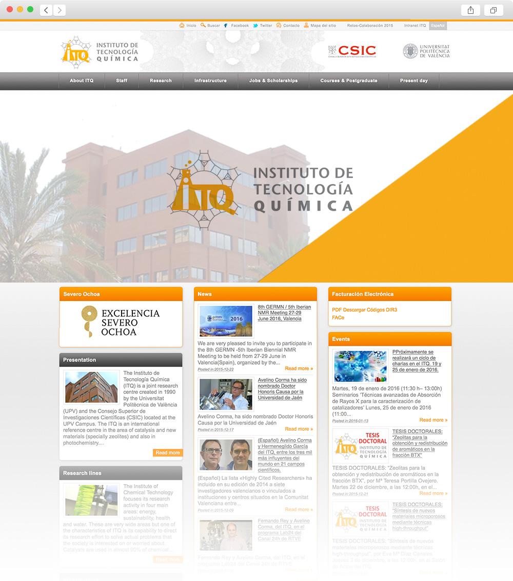 Diseño de portal Web para el Insituto de Tecnología Química en Valencia