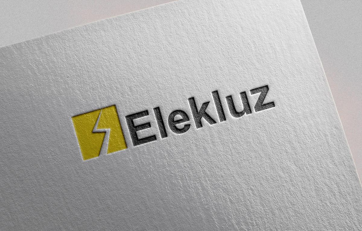Diseño de logotipo para empresa de electricidad siñalítica pared
