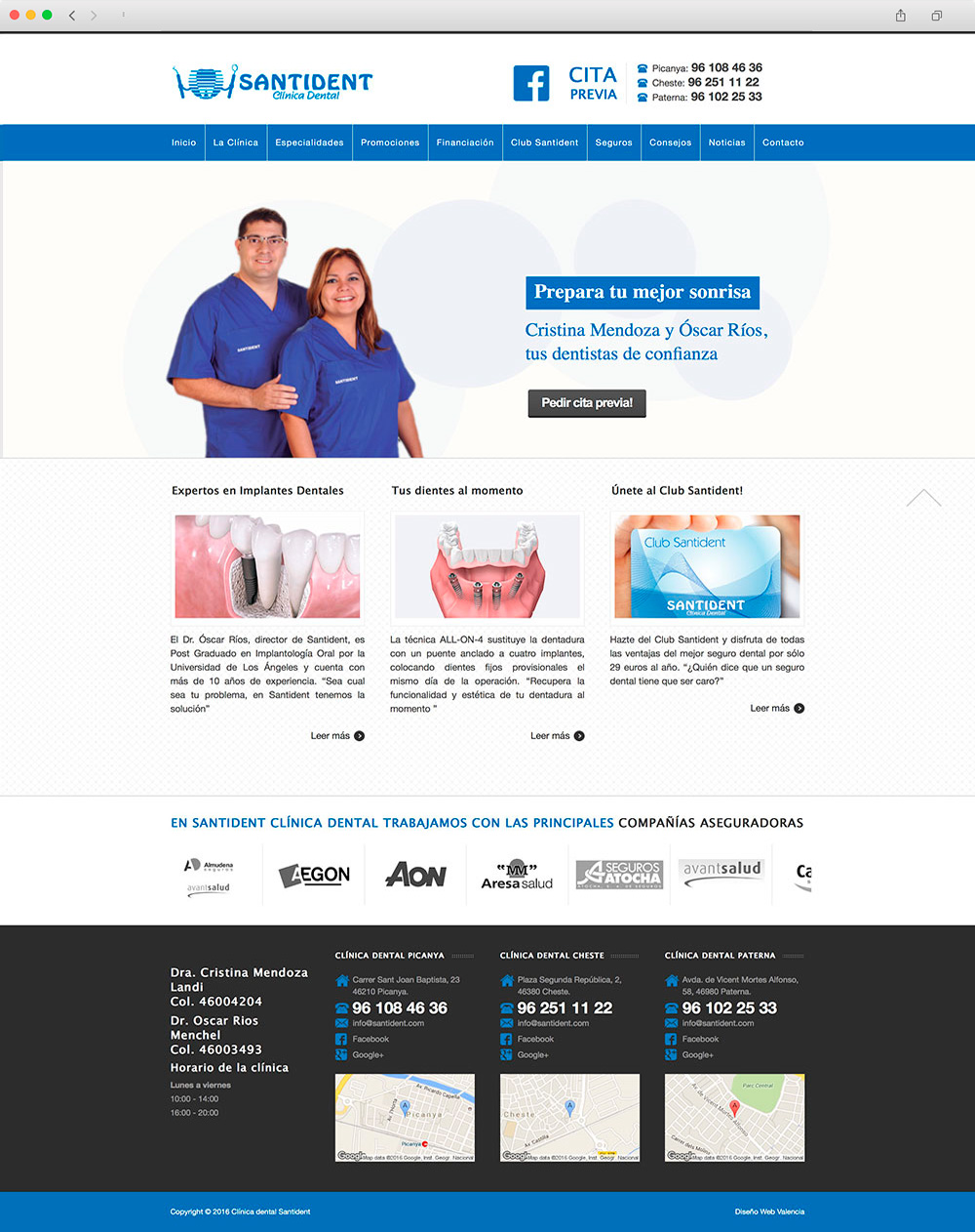 Web corporativa para clínica dental en Valencia