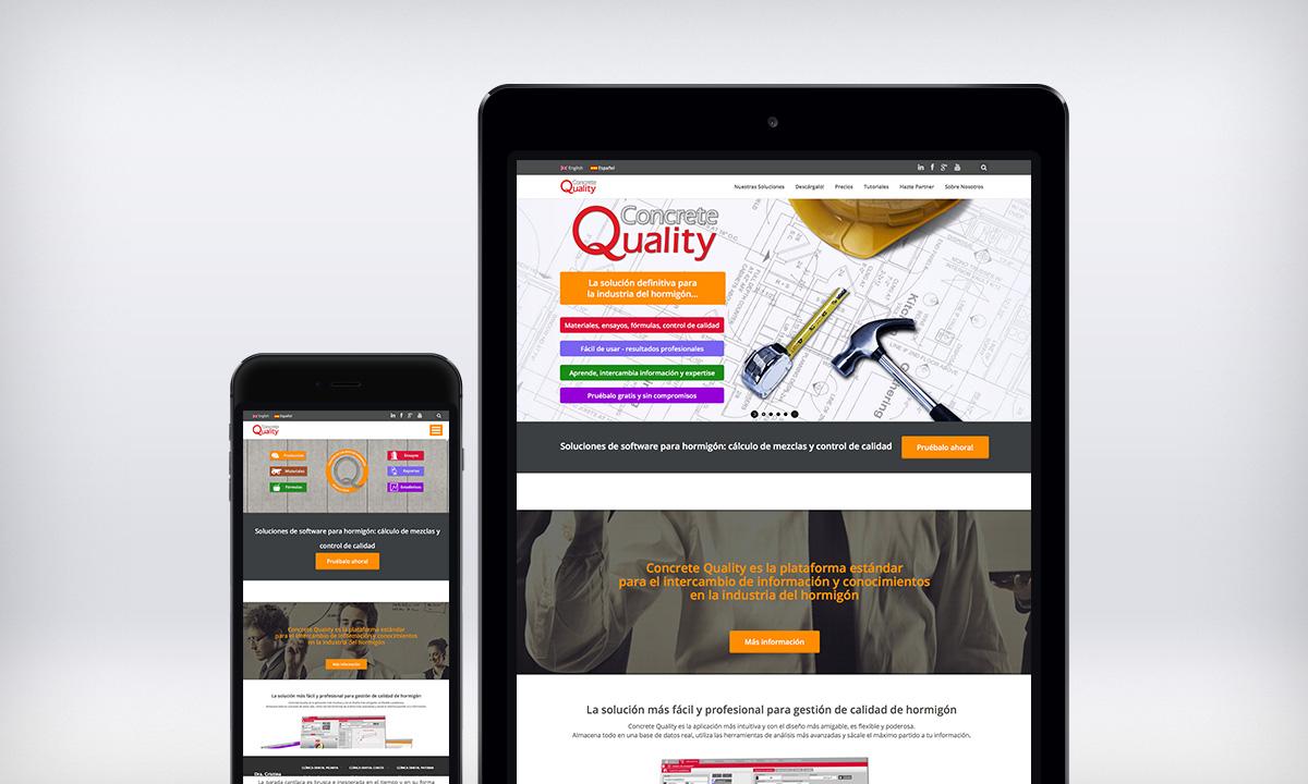 Diseño de pagina Web responsive para una empresa especializada en tecnología relacionada a la industria del hormigón.