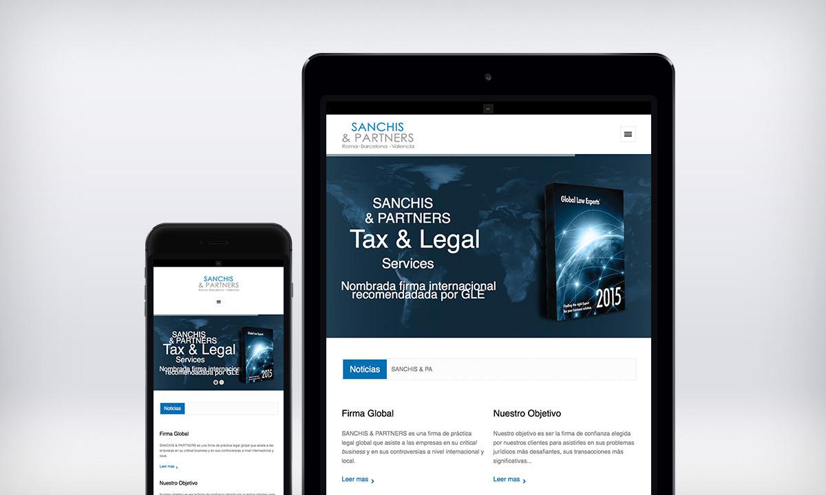 Desarrollo de portal Web responsive para un bufete de abogados en Valencia