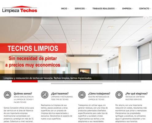 Diseño de pagina Web corporativa para una empresa de limpieza en Valencia