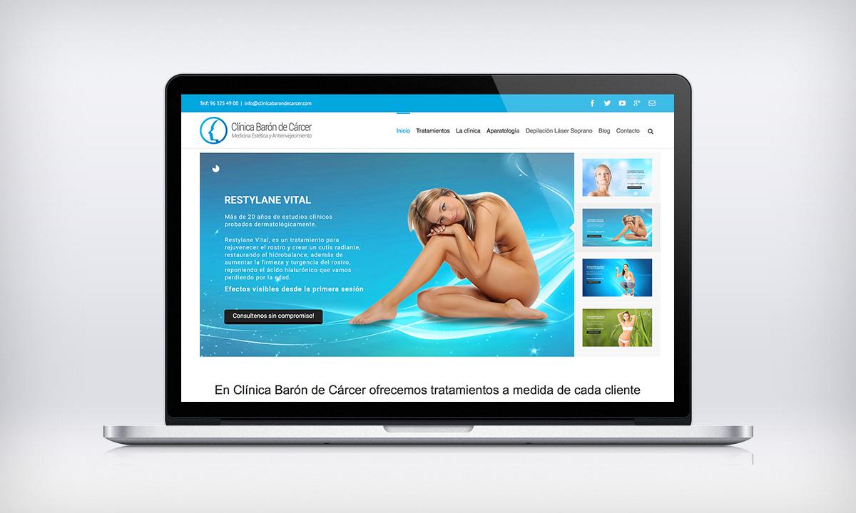 Diseño Web autogestionable para CBDC, Una clínica de belleza y estética en Valencia