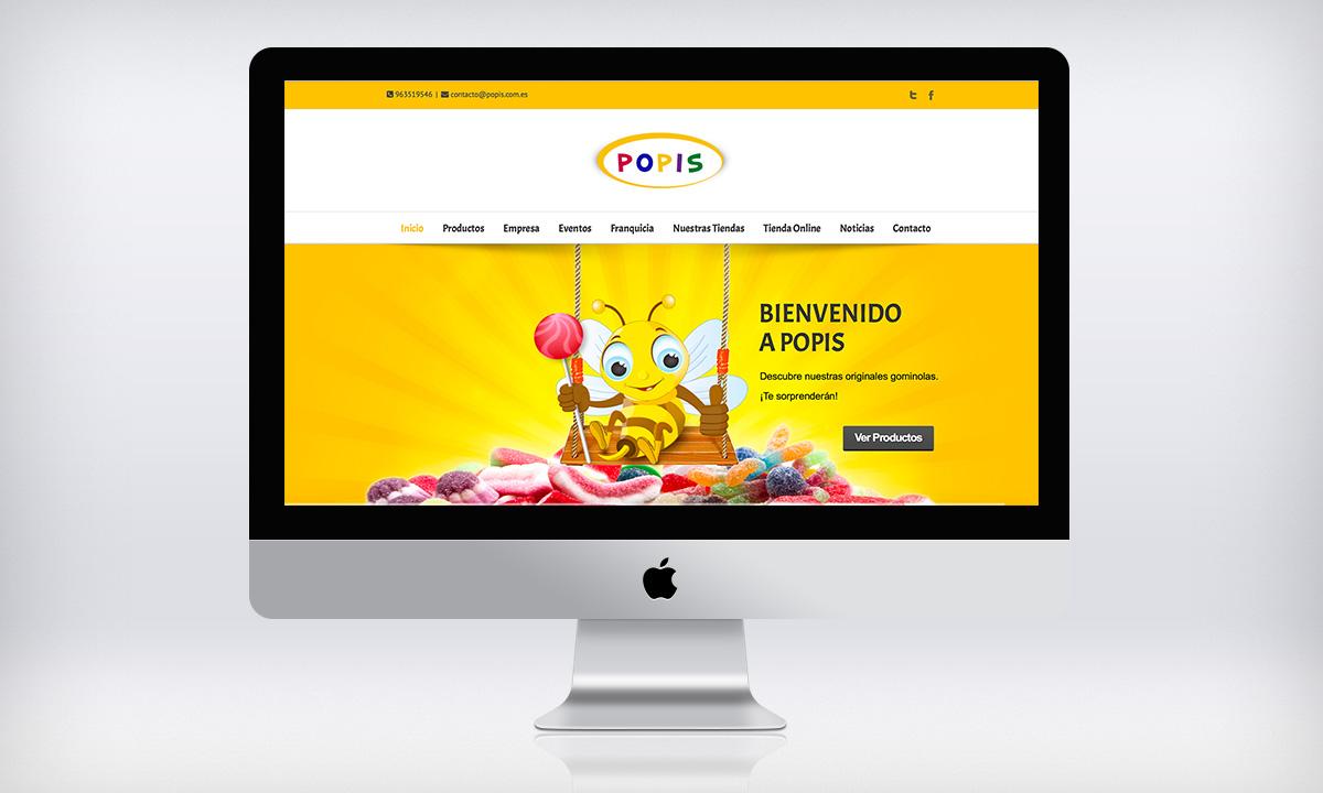 Diseño de pagina Web autogestionable para una tienda de chuches en Valencia
