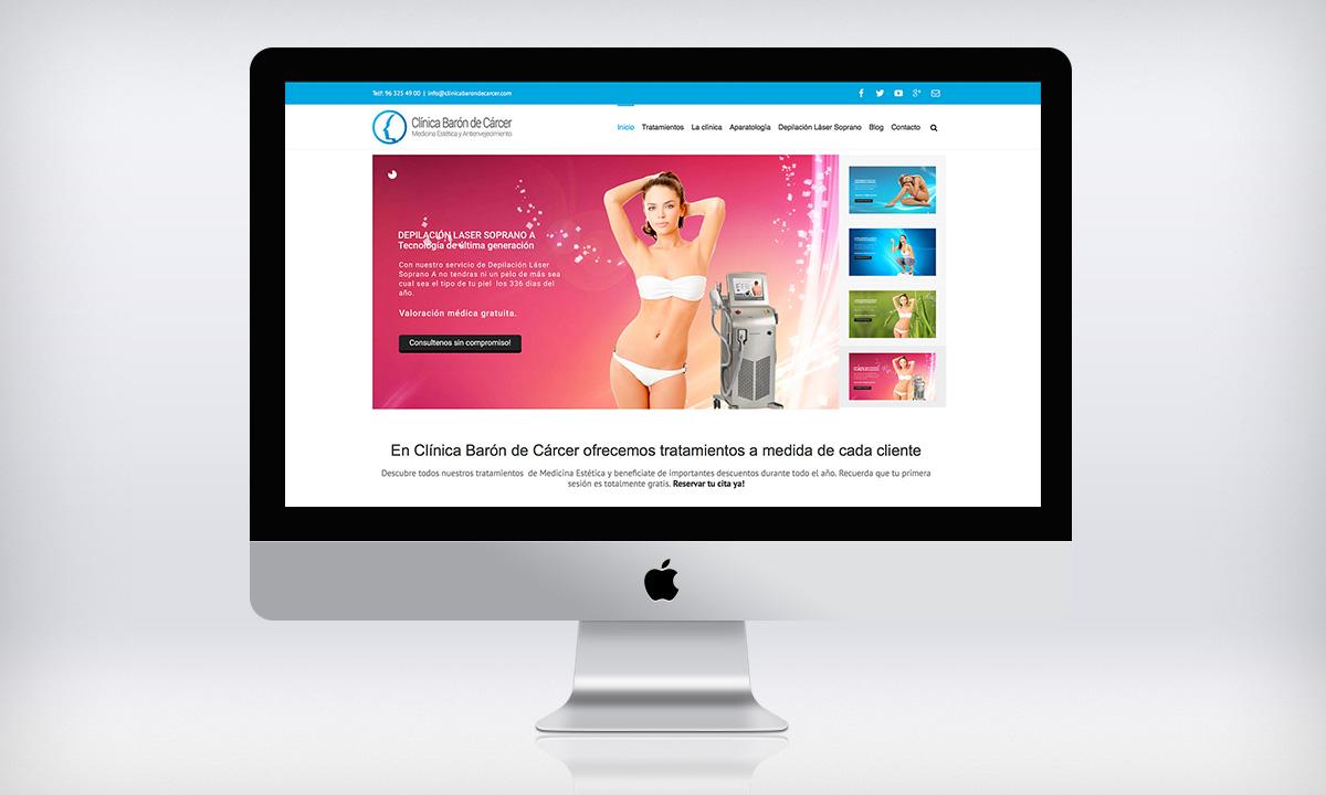 Diseño Web Wordpress para CBDC, Una clínica de belleza y estética en Valencia