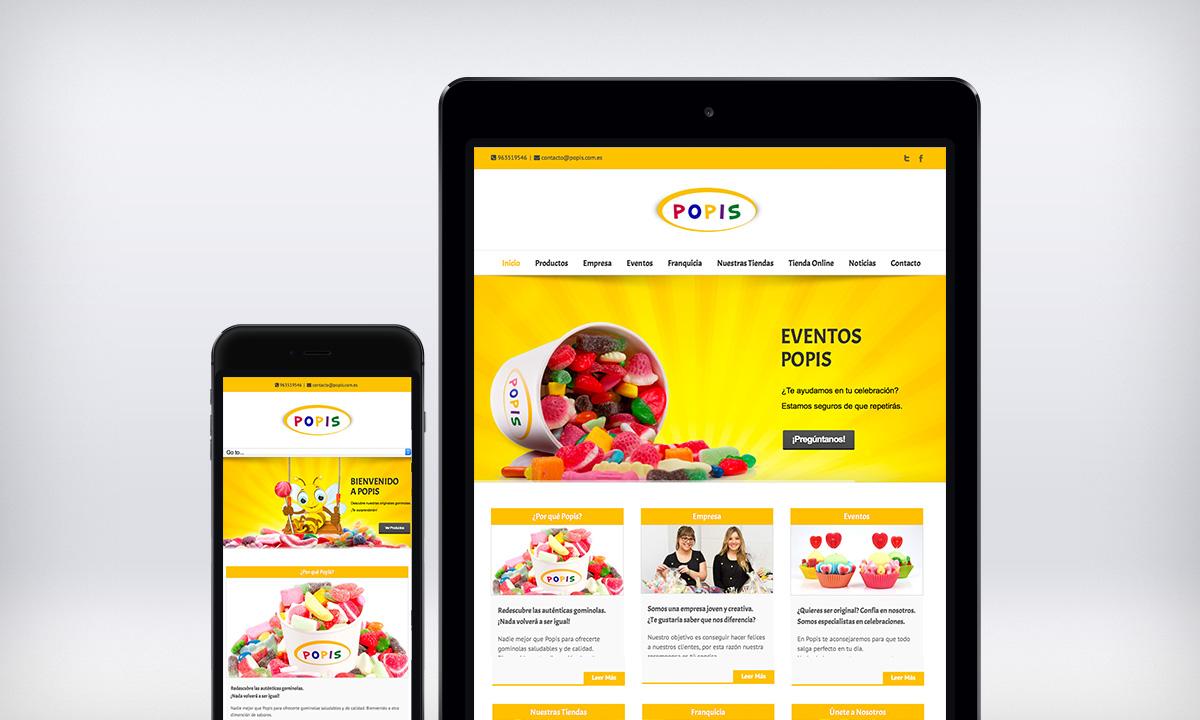 Diseño de pagina Web responsive para una tienda de chuches en Valencia