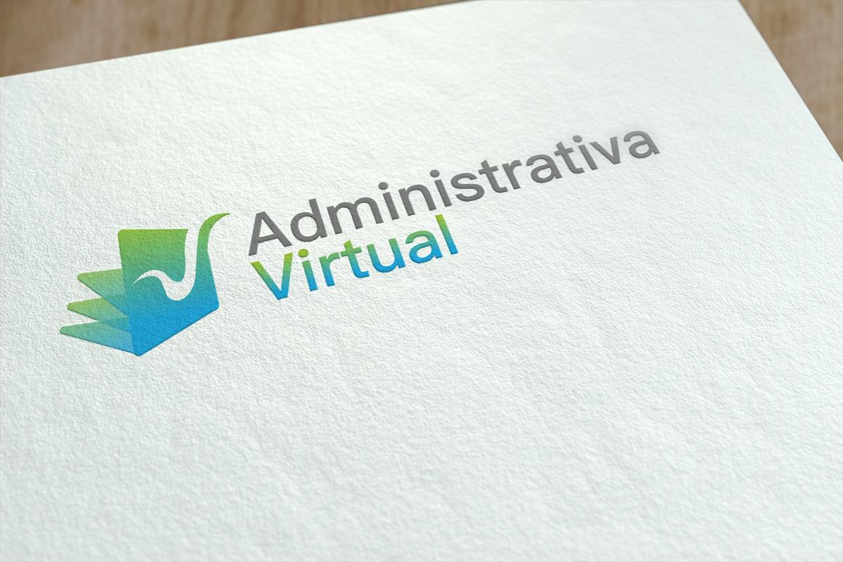 Diseño de logotipo Administrativa Virtual Valencia