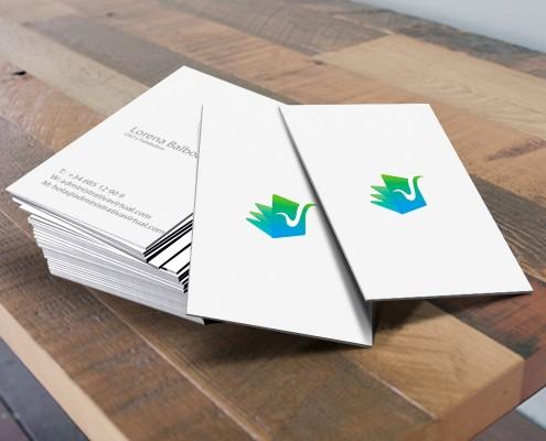 Diseño de tarjetas de visita para Administrativa Virtual en Valencia
