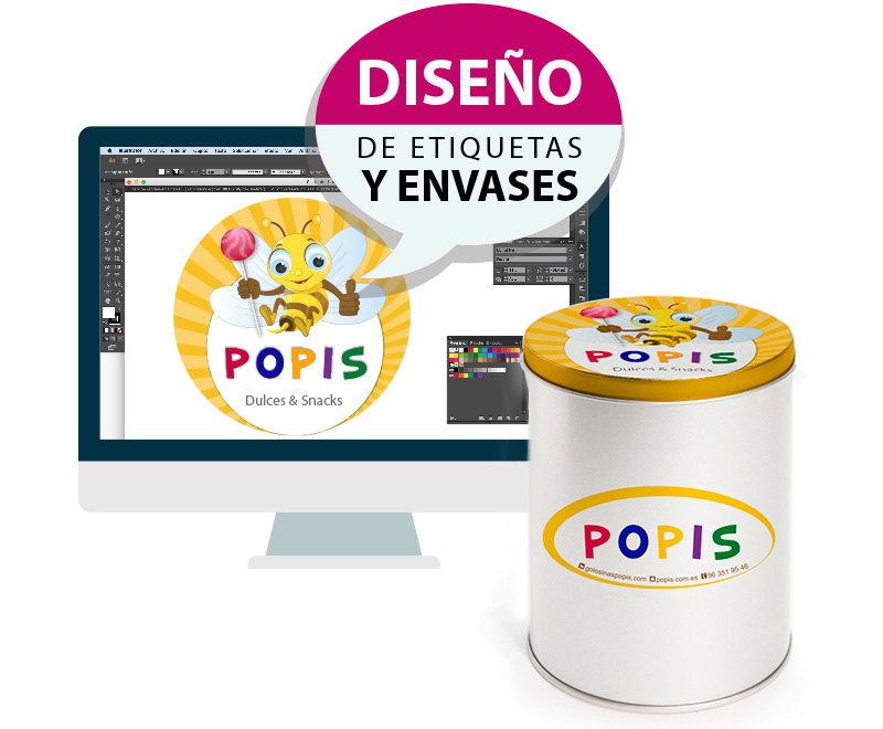 Dise o de etiquetas de productos en valencia online studio for Diseno de etiquetas