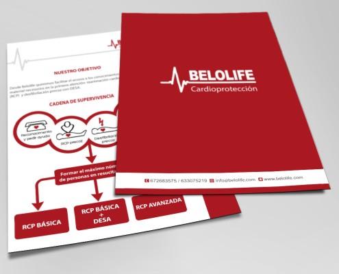 Diseño de trípticos para promocionar servicios