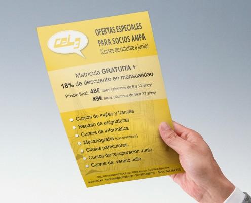 Diseño de folleto publicitario para CEI3