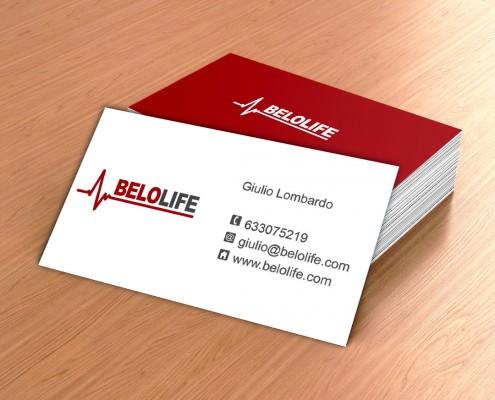 Diseño de tarjetas de visita e imagen corporativa para Belolife