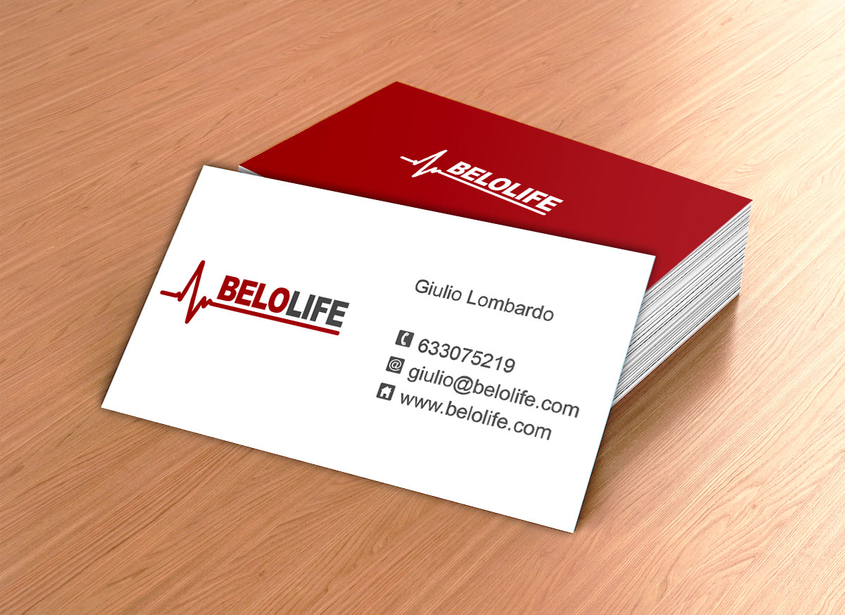 Dise o de tarjetas de visita para belolife online studio - Disenos para tarjetas ...