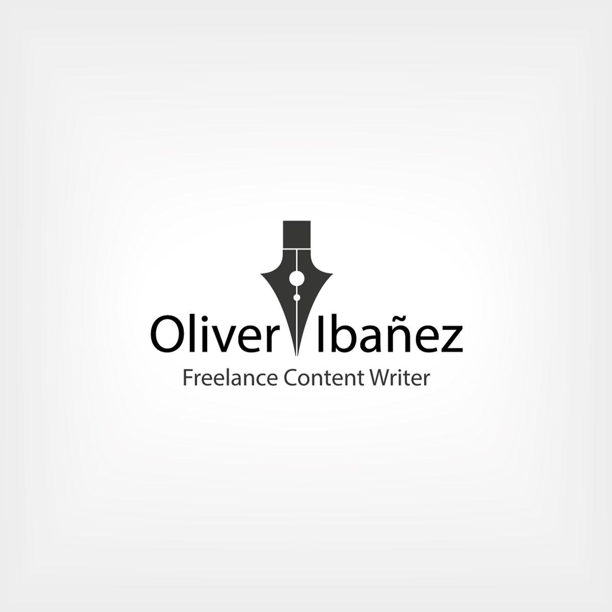 Diseño de logotipo profesional para Oliver Ibáñez, un periodista y redactor de contenidos freelance en Méjico.