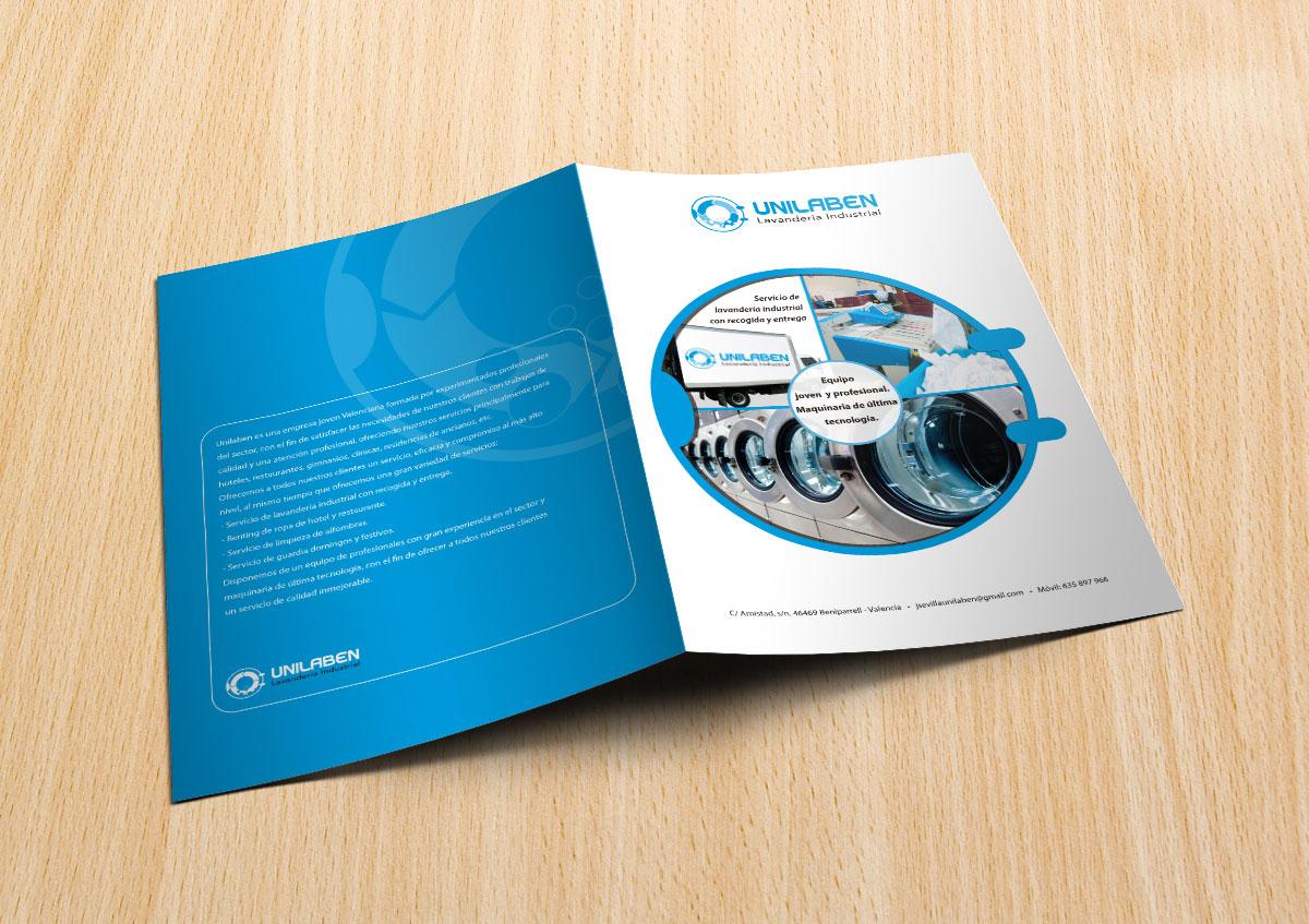 Diseño de carpetas profesionales para lavandería industrial
