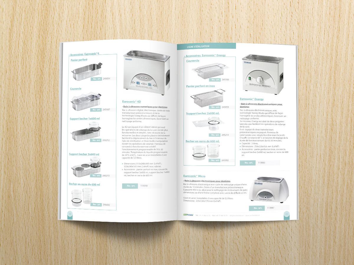Diseño de catálogo de productos para empresa distribuidora de materiales médicos