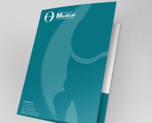 Diseño de carpetas de empresa para Transmedical