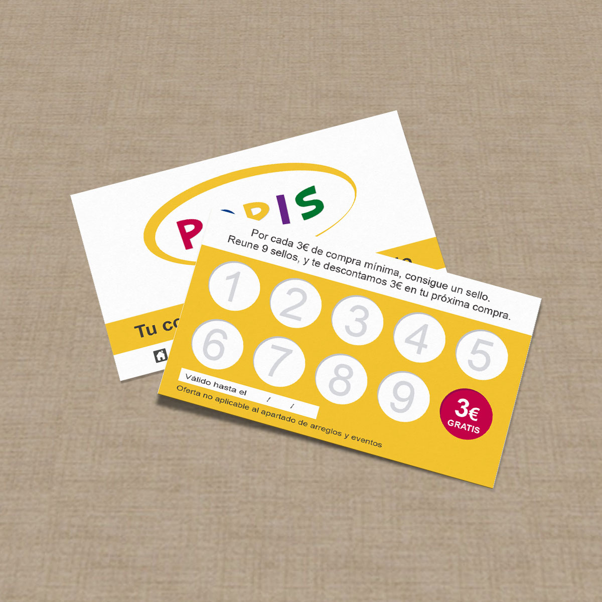 Dise o de tarjetas de fidelizaci n de clientes popis - Disenos para tarjetas ...
