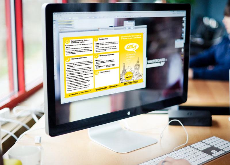 Diseñoo de tripticos de productos y servicios en Valencia