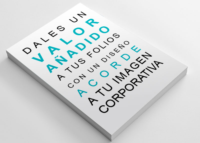 Diseño de folios membretados y corporativos en Valencia