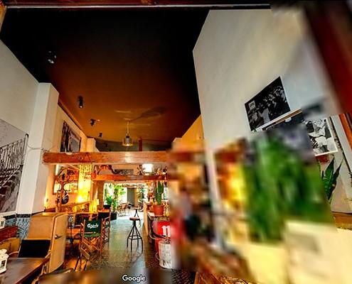 Visita virtual de una cafetería & bar